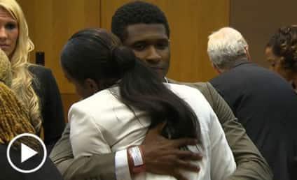 Usher Wins Custody Battle, Hugs Ex-Wife in Court