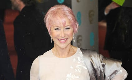 Helen Mirren Debuts Pink Hair at 2013 BAFTAs