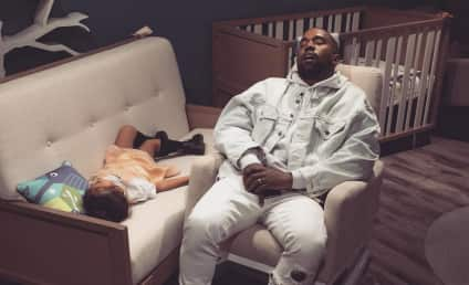 Kanye West Finally Stops Tweeting, Falls Asleep Alongside Daughter