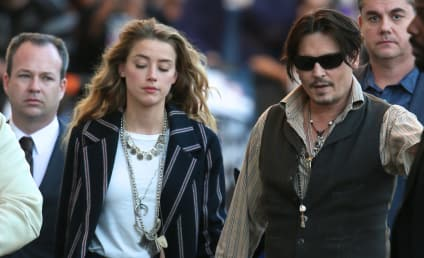 Johnny Depp Takes Amber Heard, Ridiculous Outfit to Press Event