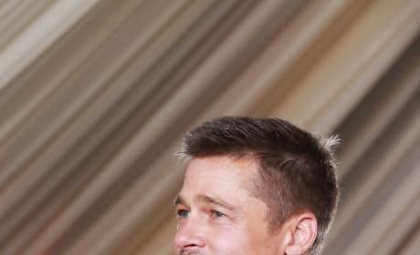 Brad Pitt Waves to Fans
