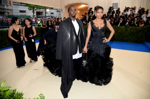 Diddy and Cassie at 2017 MET Gala