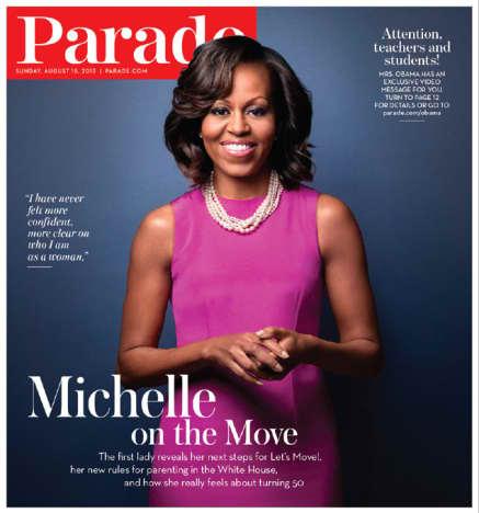 Michelle Obama Parade Cover