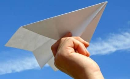 Man Wanted for Tossing Pornographic Paper Airplane