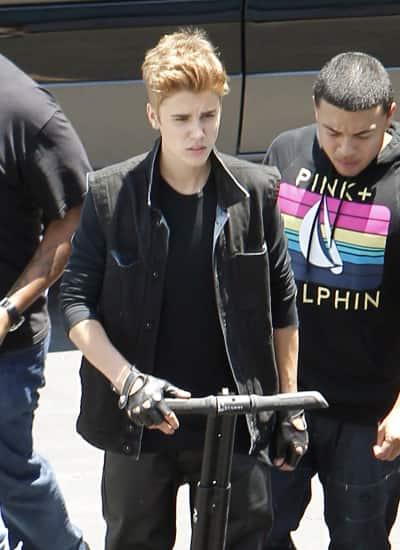 Justin Bieber on a Segway