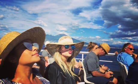 Shay Mitchell & Ashley Benson on Boat Trip