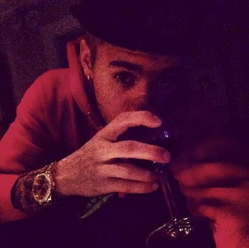 Justin Bieber Drinks Wine