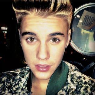 Justin Bieber Mustache Photo