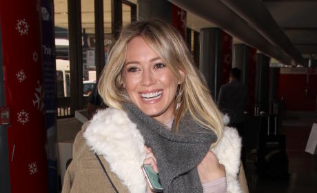 Hilary Duff Catches a Flight Out of LA