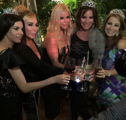 The Real Housewives Ladies Celebrate LuAnn's Bachelorette