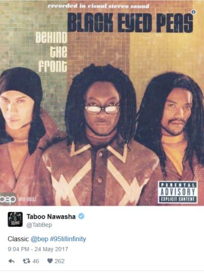 Black Eyed Peas 'Classic' Tweet