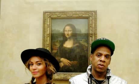 Beyonce and Jay Z: Mona Lisa Selfie