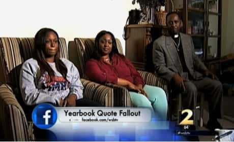 Yearbook Quote Costs Girl Graduation