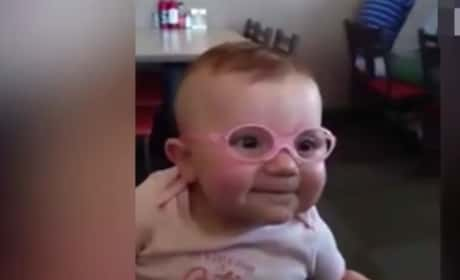 Baby Puts on Glasses, Sees Parents for First Time