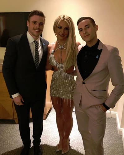 Gus Kenworthy, Britney Spears, and Adam Rippon