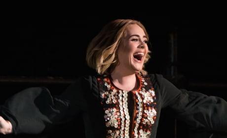 Adele is so Happy!