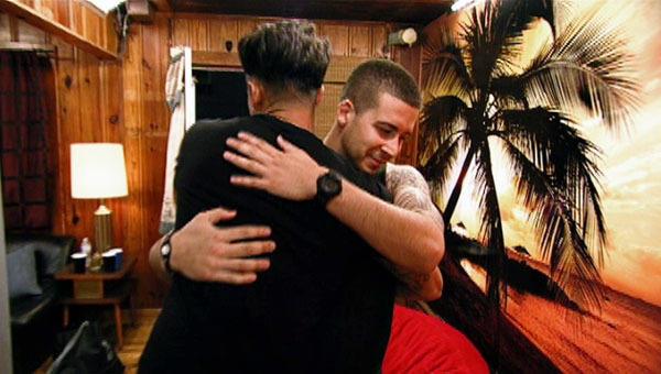 Vinny and Pauly Hug
