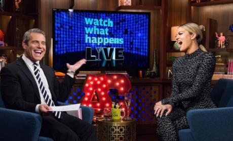 Khloe Kardashian and Andy Cohen