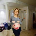 Holly Madison Baby Bump Photo