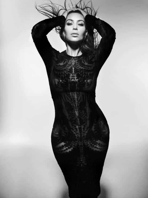 Kim Kardashian in Black and White