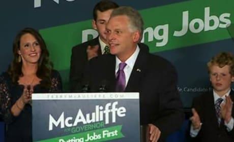 Terry McAuliffe Wins Close Virginia Governor's Race