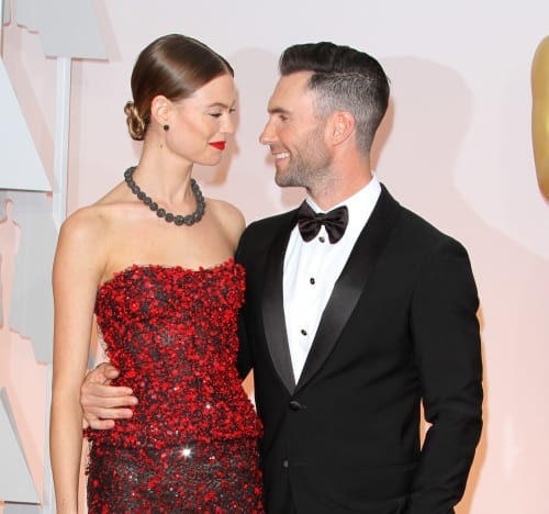 Adam Levine and Behati Prinsloo at the Oscars