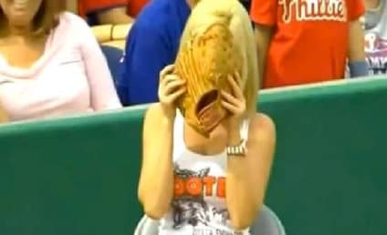 Hooters Ball Girl Tosses Fair Ball Into Stands in Spring Training