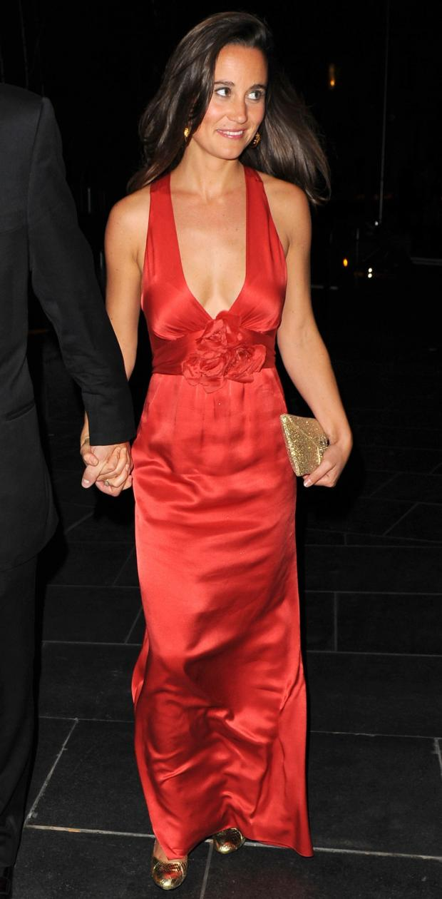 Pippa Middleton, Red Gown