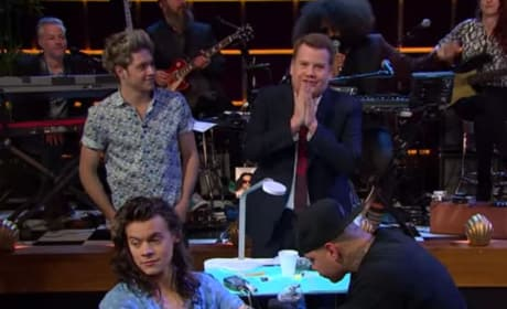 Harry Styles Actually Gets Tattoo on Television