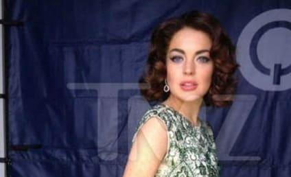 Lindsay Lohan as Elizabeth Taylor: First Look!
