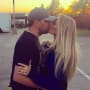 Jason Aldean and Brittany Kerr Kiss