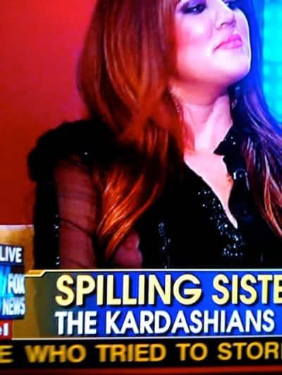 Khloe Kardashian Nip Slip