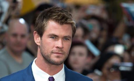 Chris Hemsworth in the UK