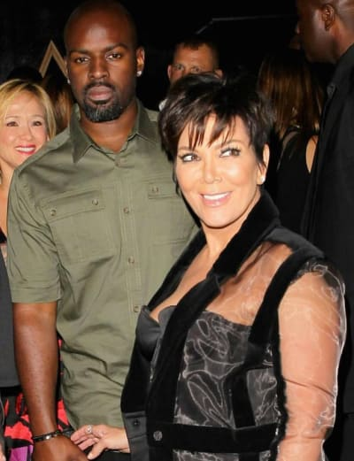 Corey Gamble with Kris Jenner