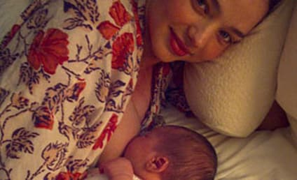 Miranda Kerr Introduces Son, Nursing Position to the World