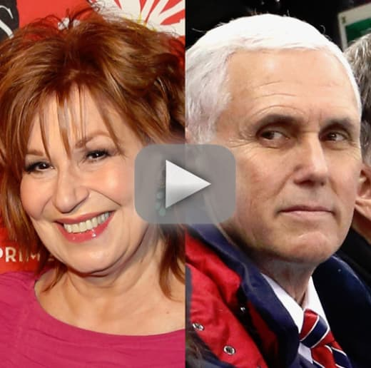 Mike pence feuds with joy behar i want the view cancelled