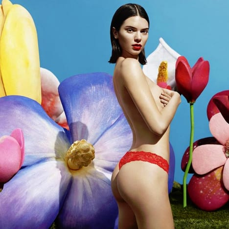 Kendall Jenner Topless 'Freedom Panty' Ad