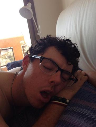 Rory McIlroy Sleeping