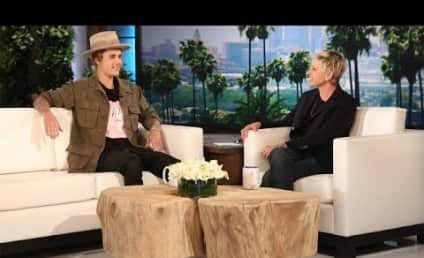 """Justin Bieber Flirts With Madonna, Apologizes for Being a """"Douche Bag"""" on Ellen"""
