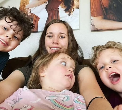 Jessa Duggar and 3 Kids