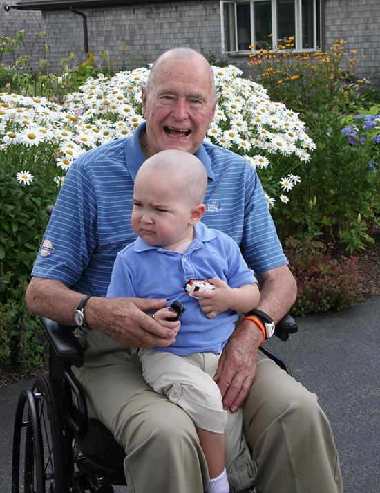 George H.W. Bush Shaved Head
