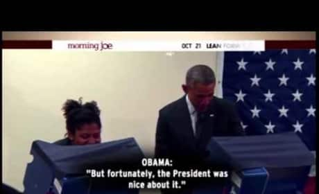 Dude to Obama: Stay Away From My Girl!