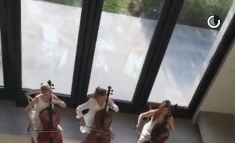 Kim Kardashian gets serenaded by orchestra for Mother's Day