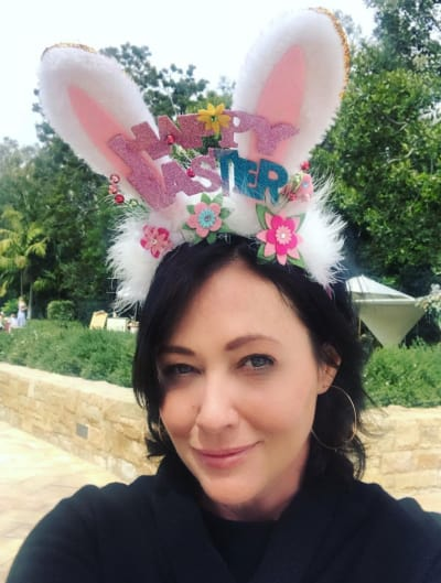 Shannen Doherty on Easter