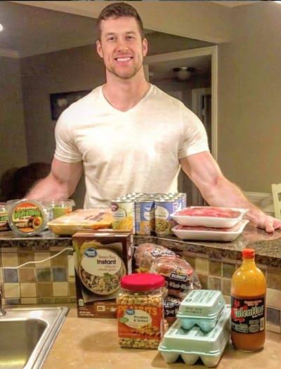 Clayton Echard in His Kitchen