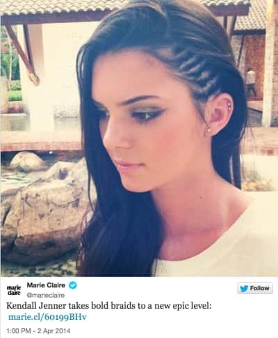 Kendall Jenner Braids Photo