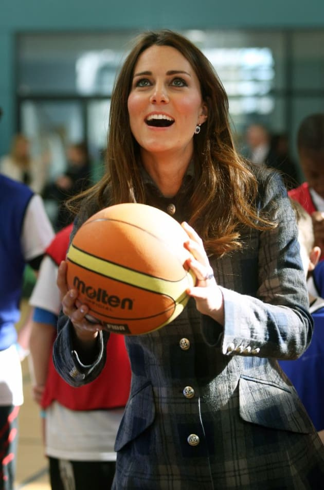 Kate Middleton Playing Basketball