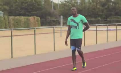 Usain Bolt Brushes Up on Russian For Upcoming Moscow Championships