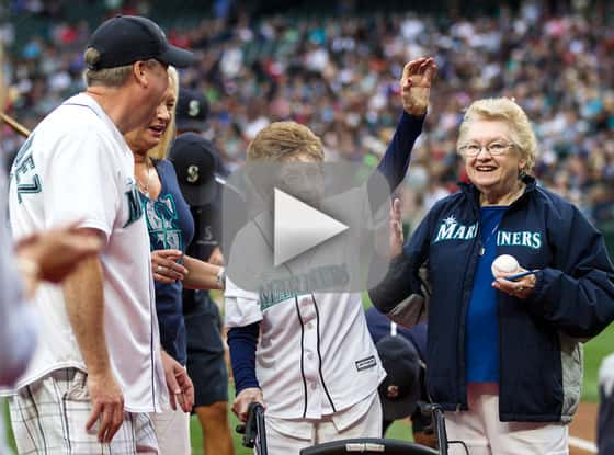 108-Year Old Woman Throws First Pitch, Does Better Than 50 Cent