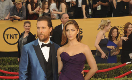 Matthew McConaughey and Camila Alves at the SAG Awards